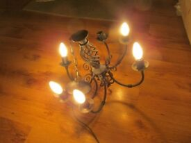 2 Cast Iron Gothic Style Chandeliers