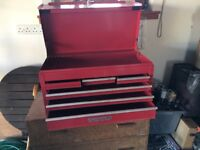 Red Metal Tool Chest 6 Drawers