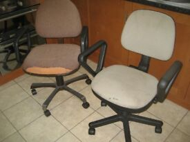 2x OFFICE CHAIR SWIVEL CHAIRS OFFICE SWIVEL CHAIR HEIGHT ADJUSTABLE CHAIR with ARM RESTS
