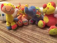 mothercare cot mobile with working lights, sound & spin. Soft toy animals