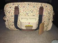 yummy mummy pink lining bag brand new