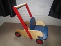 A very good quality, solid wooden baby walker is for sale