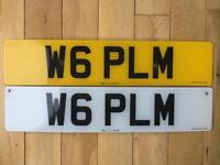 Private Number Plate W6 PLM