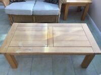 Large and small pine coffee tables