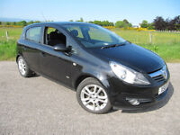 Vauxhall Corsa SXi 1.2 16V 5 Dr in Black Years MOT VGC NOW £2750 2008 Low Miles.