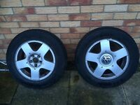VW golf car wheels and tyres MK 4