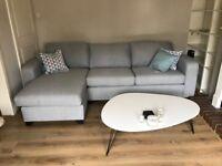 Grey Corner sofa DFS