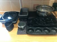 Large selection of cake tin & silicon cake moulds