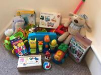 Large bundle toys. Some brand new. Baby and toddler. John Lewis bath