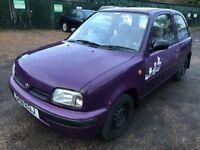 Nissan Micra Shape 998cc Petrol Automatic 3 door hatchback R Reg 19/10/1997 Purple