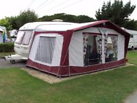 Bradcot Active Caravan Awning, 840cm with aluminium lightweight frame and 2 x groundsheets