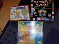 3 boxes of arts and crafts mosaic toys
