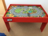 Child's wooden road play table