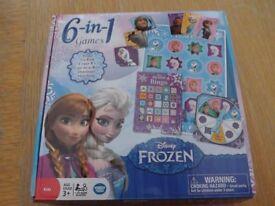 Disney Frozen 6 in 1 Box of Games