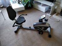 JLL RE100 Recumbent Home Exercise Bike with magnetic resistance and heart monitor