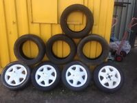 4 ford alloys + 4 winter tyres
