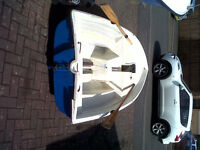 BLUE PETER SAILING ROWING FISHING DINGHY TENDER