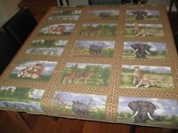 Table Cloth - African Animal Theme tablecloth NEW