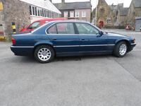 BMW 728i Automatic E38 2.8 Petrol in Barritz Blue Metallic. One year MOT. 157650 Miles.