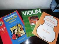 3 beginners violin books