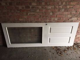 INTERNAL WOODEN DOOR WHITE WITH FROSTED GLASS