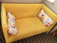 2-seat sofa KNOPPARP Yellow Ikea