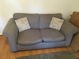 DFS Grey Sofa Bed with Arm Chair
