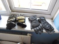 2 Pairs of Men's Motorbike Gloves Kevlar size L & Schoeller JTS size XL
