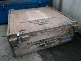 Plywood shipping trunk Rolls Royce