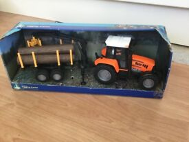 ELC tractor and trailer with logs Excellent condition
