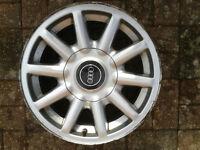 AUDI 80 15 inch alloy wheel, 4 stud, with centre cap (7JX15H2 ET37)