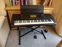 Yamaha Keyboard with stand and sustain pedal