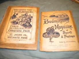 A PAIR OF c1900s ADVERTISING POSTERS 9X7 INCHES