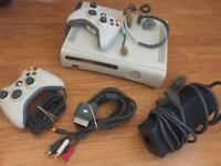 Xbox 360 Original White Console with controllers (not HDMI)