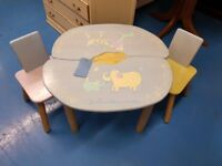 Children's Table & Two Chairs