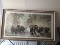 elephants at amboseli by david shepherd print paint