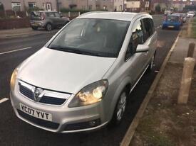 Vauxhall zafira design 1.8 7 seater 2007