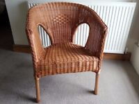 WICKER ARMCHAIRS - STACKABLE - GOOD CONDITION