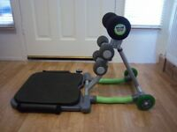 Ab trainer machine for effective sit-up exercise by Total Core boxed Excellent adjustable backrest