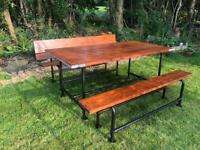 Handmade Bespoke Garden Furniture: Industrial Scaffolding Set