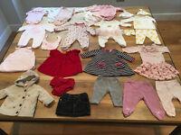 0-3 Months Baby Girl Clothes Bundle - 31 items (inc. JoJo, White Co, Jasper Conran, John Lewis, Gap)