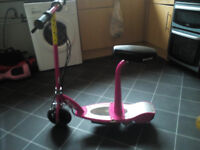 razor electric scooter pink