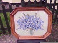 Embroidered Flower Scene £5