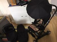 Mamas and papas all black urbo Pram pushchair