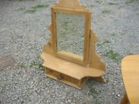 VINTAGE SOLID PINE ORNATE DRESSING TABLE MIRROR. FREE-STANDING. VIEWING/DELIVERY AVAILABLE