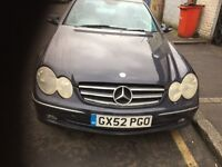 03 CLK MERCEDES 240 PETROL AUTO THIS CARS FOR PARTS ALL PARTS AVALIABLE