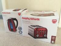 Brand new in box Morphy Richards kettle and toaster