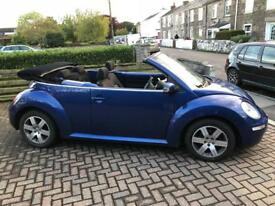 Vw beetle convertible dark metallic blue 1.9 TDI