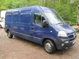 Vauxhall Movano 3500kg LWB, Mot till 24/10, needs gearbox, drives. Same as Master and Interstar
