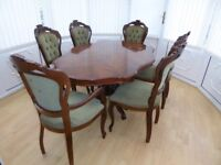 Italian Style Dining Table and 6 Chairs - Used